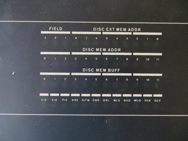 DEC RF08 Controller Display Panel Closeup