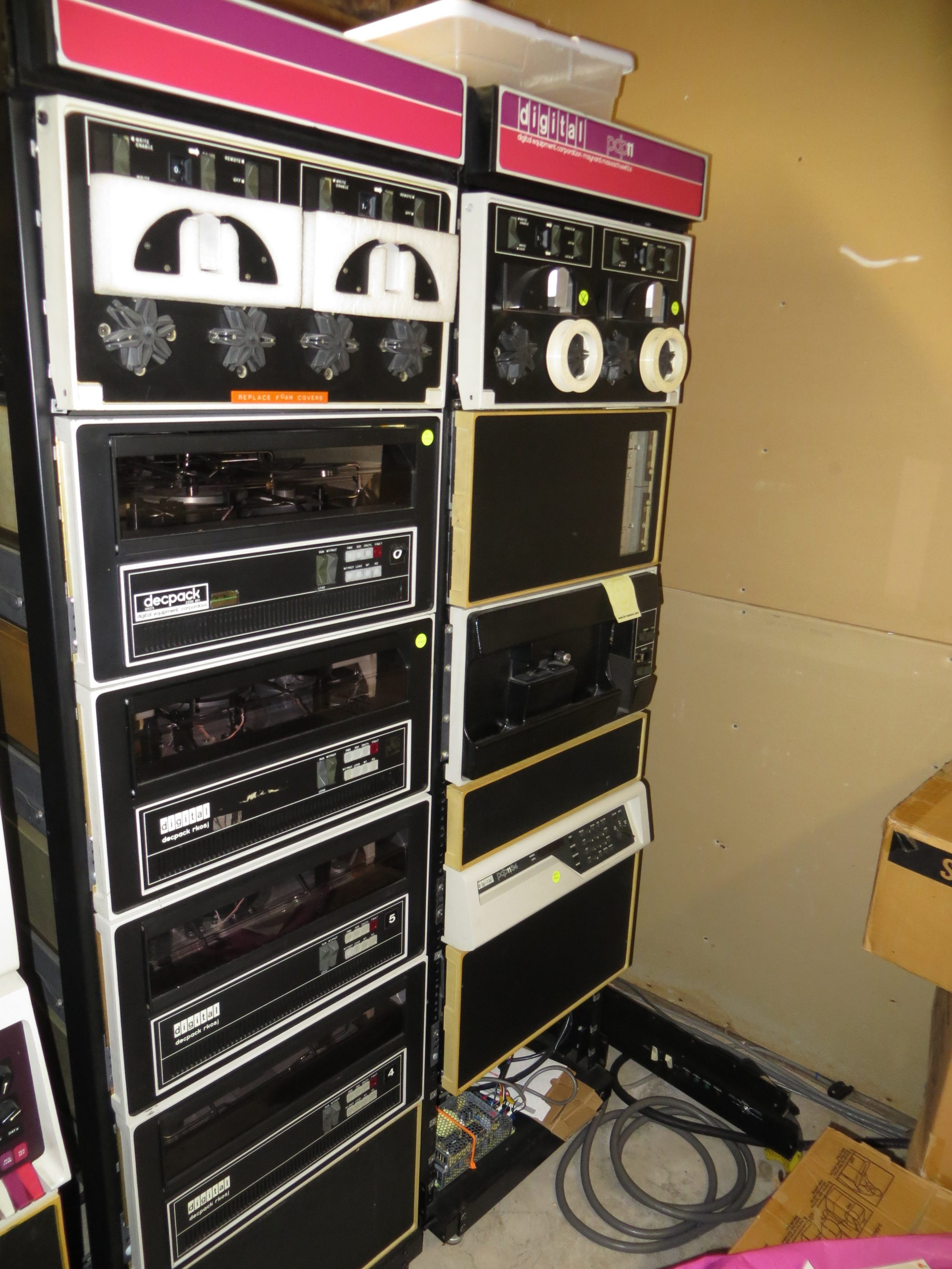 DEC RK05s attached to PDP-11/34