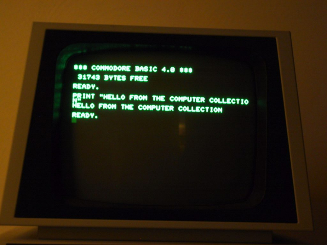 Commodore PET 4016 Screen