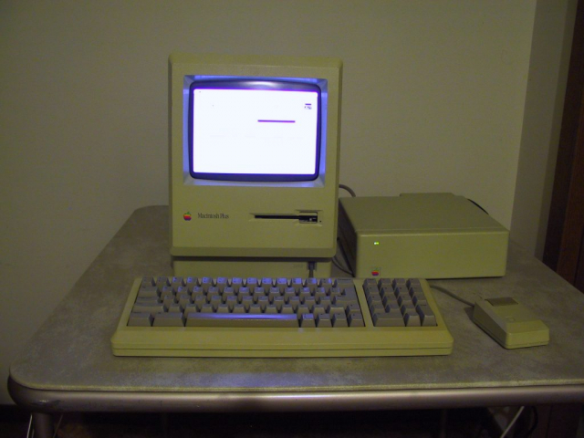 MAC Plus with external hard drive