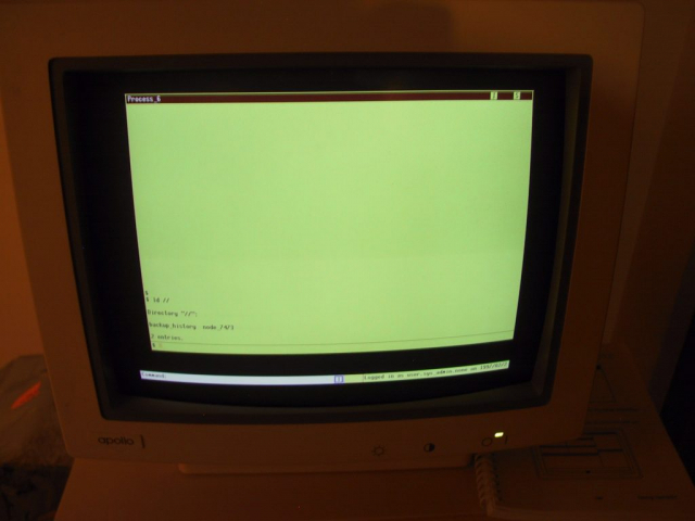 Apollo DN3000 Running The DOMAIN/OS Operating System