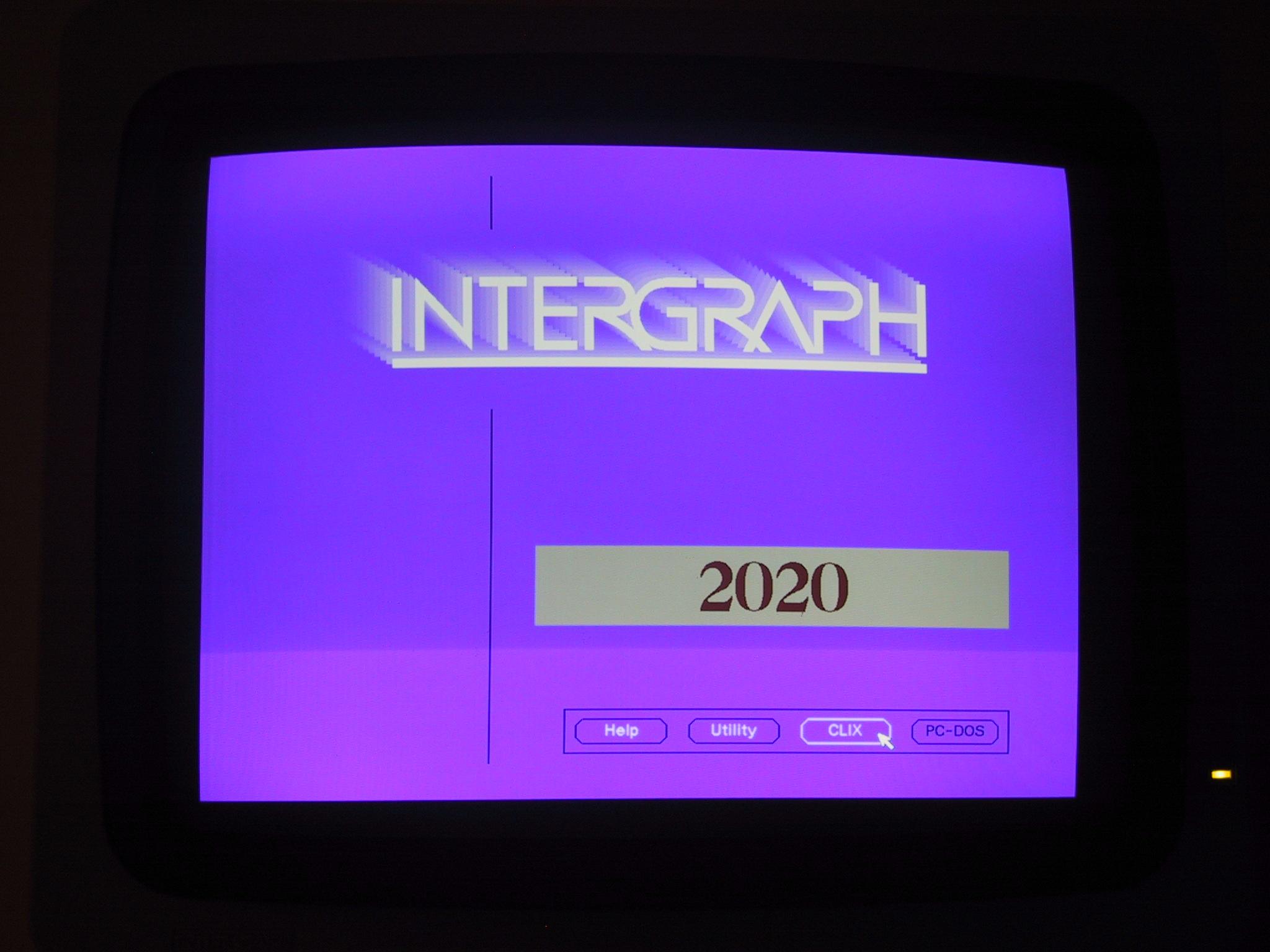 Intergraph InterPro 2020 CLIX Startup Choice Screen