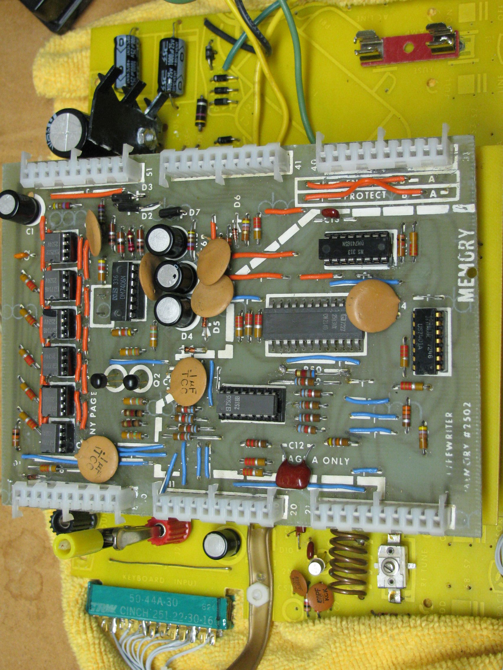 TV Typewriter Memory Board After Restoration