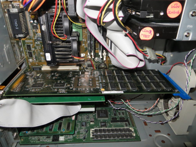 IBM P/390E Card Installed in Pentium II PC Closeup