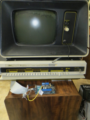 PC11R Paper Tape Reader Emulator With GT40