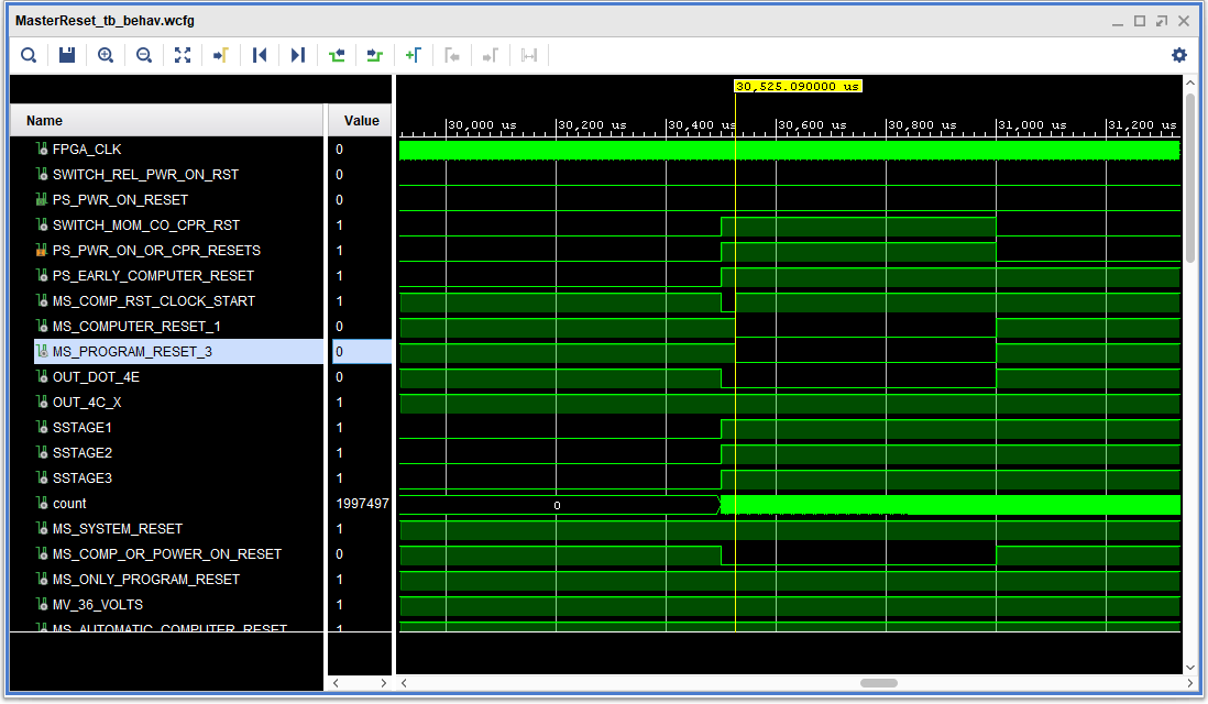 IBM 1410 Computer Reset Delay