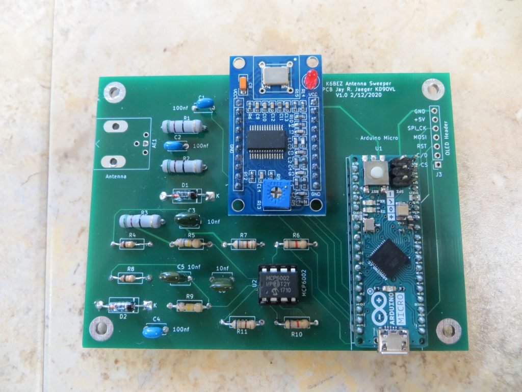 Circuit board for K6BEZ Antenna Analyzer