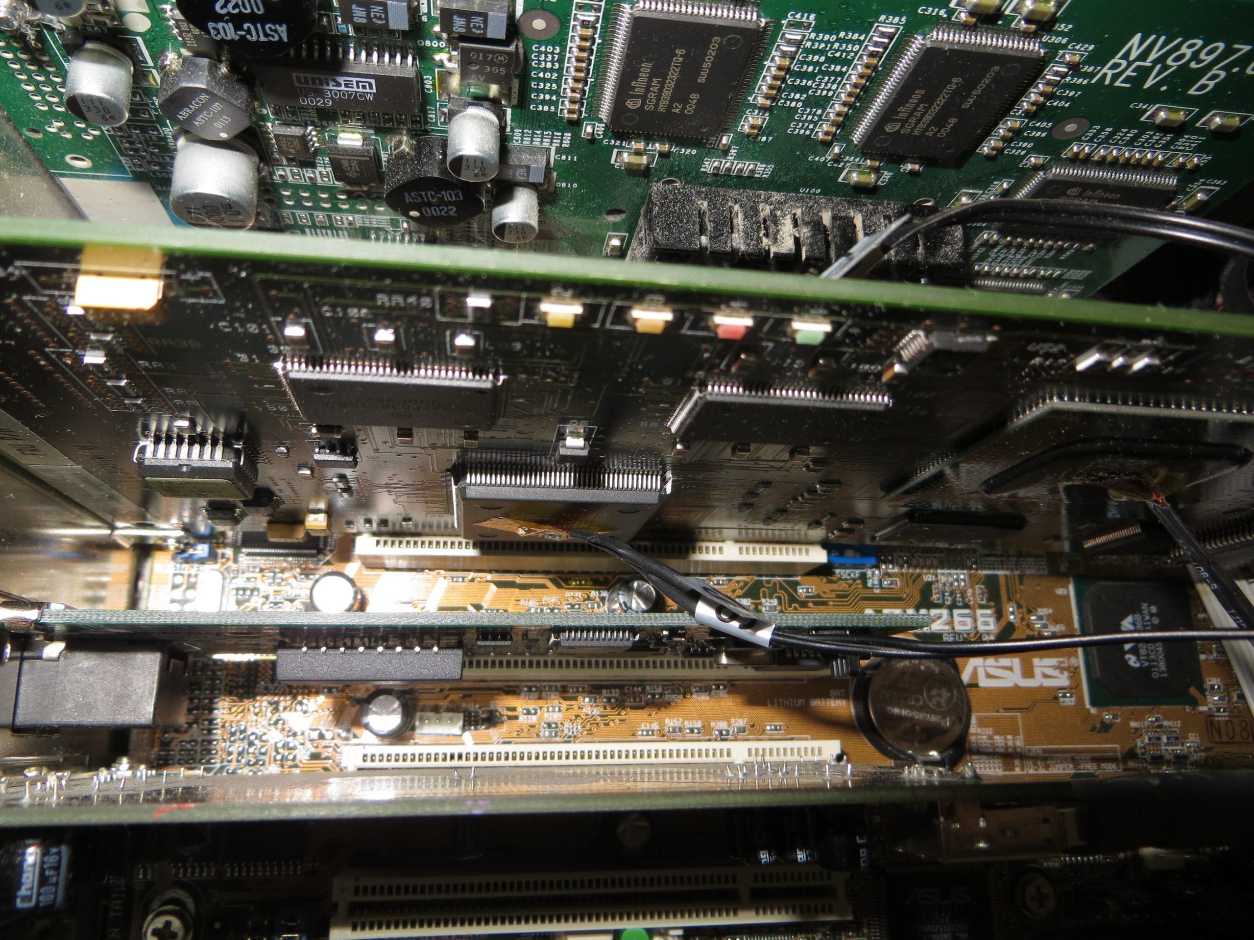 IBM P390/E Processor Card inside 1.33GHz AMD Athlon based PC