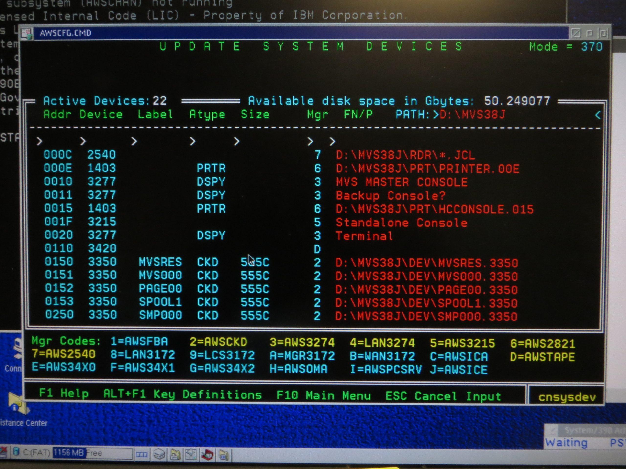 AMD 1.33 GHz Athlon PC P/390E Device Map (Partial)