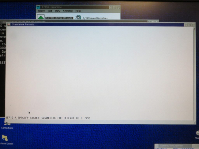 AMD 1.33 GHz Athlon PC P/390E MVS 3.8j IPL using 3215 Console