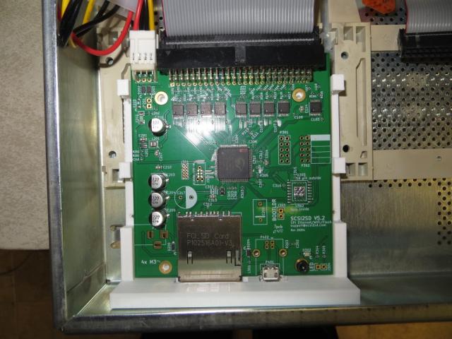 A closeup of the SCSI2SD V5.2 SCSI Disk / CD Emulator